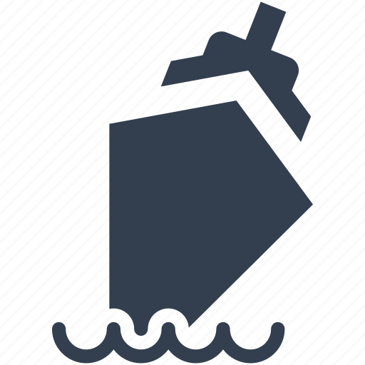 accident, boat, danger, disaster, insurance, natural, ship, silhouette, vesel, water icon