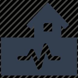 broken, building, construction, danger, disaster, earthquake, home, house, natural, quake, risk icon