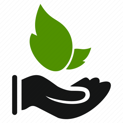 agriculture, ecology, hand, leaf, leaves, natural icon