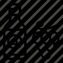 copra, grape, oil, seed icon