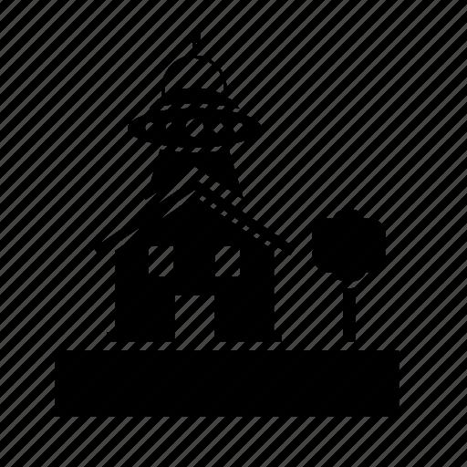 alien, building, house, phenomenon, spacecraft icon