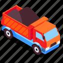 mining, truck, coal, transportation icon