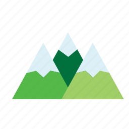 green, mountain, mountains, natural, nature, range, snow icon