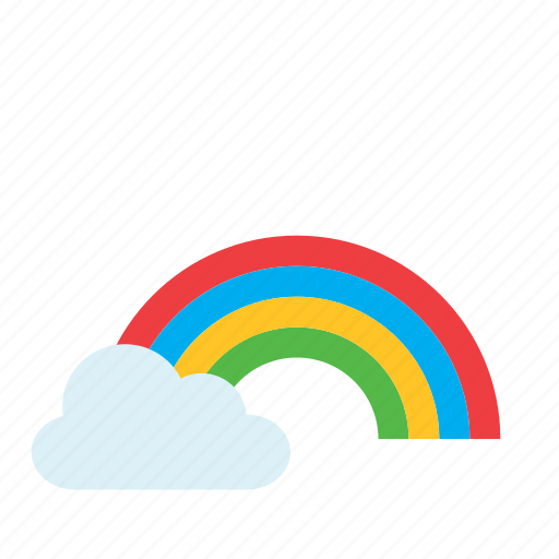 cloud, natural, nature, rainbow, weather icon