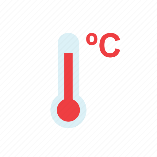 celsius, hot, nature, red, temperature, thermometer, weather icon