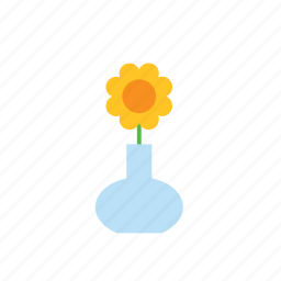 flower, natural, nature, sunflower, vase icon