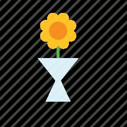 flower, natural, nature, sunflower, vase icon