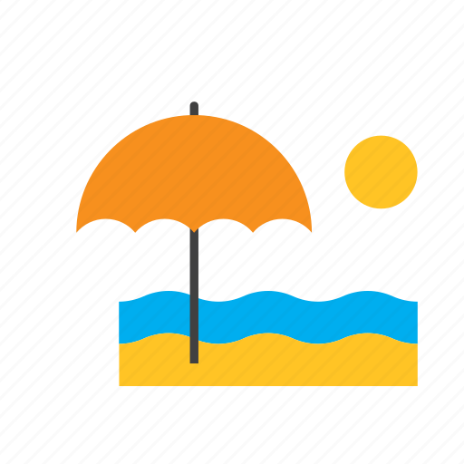 beach, natural, nature, sea, summer, sun, umbrella icon
