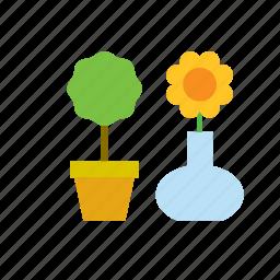 flower, flowerpot, natural, nature, plant, sunflower, vase icon