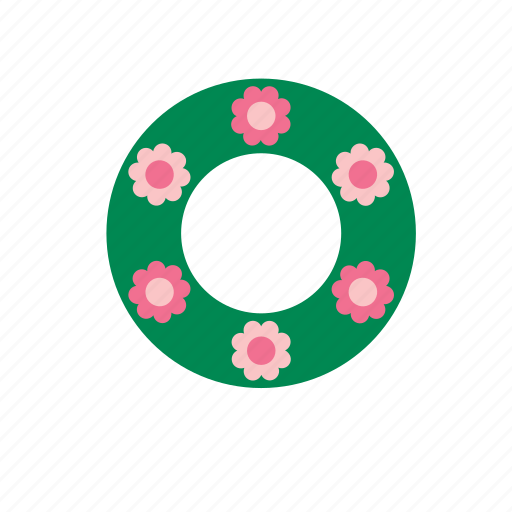 christmas, decoration, flower, natural, nature, wreath icon
