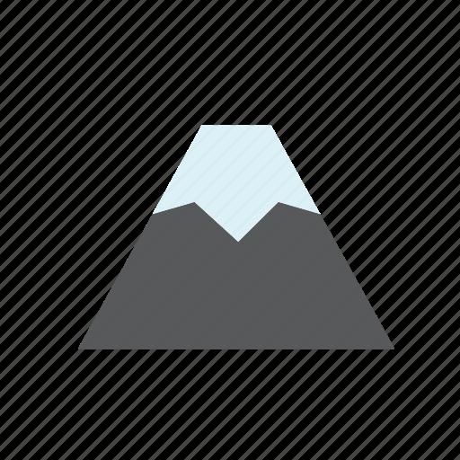 mountain, natural, nature, snow, volcano icon