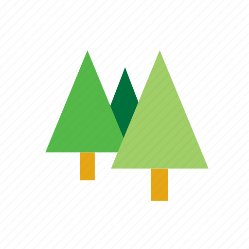 fir, forest, natural, nature, tree icon