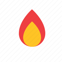 fire, flame, natural, nature icon