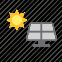 energy, environmental, natural, nature, renewable, solar, sun icon