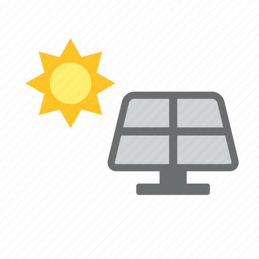 energy, environmental, natural, nature, renewable, solar, sun icon