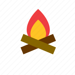 bonfire, fire, flame, natural, nature icon