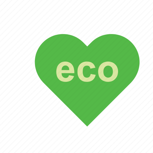 eco, ecology, environmental, green, heart, natural, nature icon