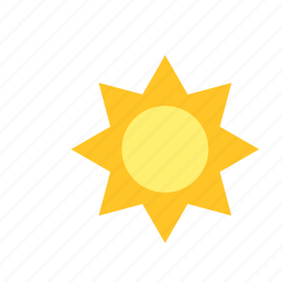 nature, sun, weather icon