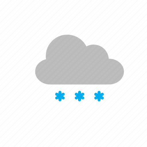 cloud, natural, nature, snow, snowflake, weather icon