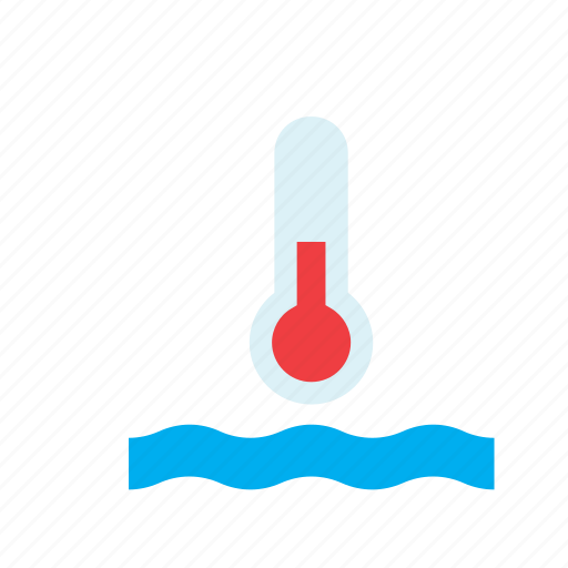 global warming, natural, nature, temperature, thermometer, water, weather icon
