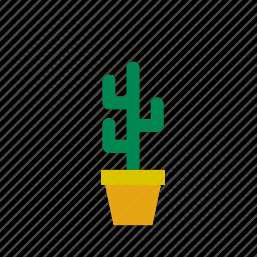 cactus, flowerpot, natural, nature icon