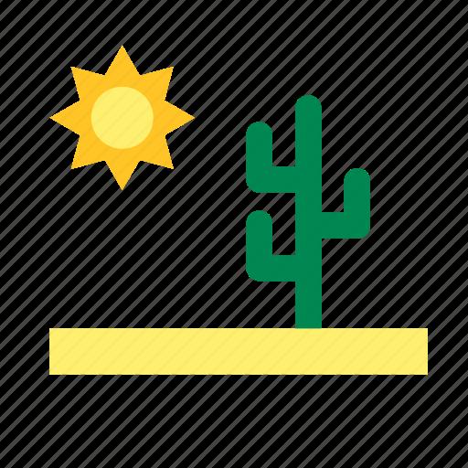 cactus, desert, natural, nature, sun icon
