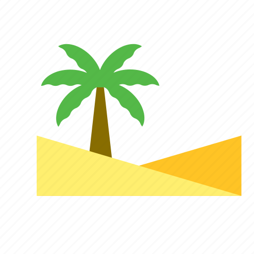 desert, natural, nature, palm, tree icon