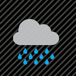cloud, nature, rain, rainy, storm, weather icon