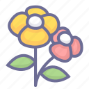 flower, flowers, natural, nature, vegetation icon