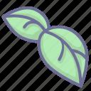 leaves, nature, vegetation icon