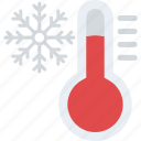 cold symbol, frozen thermometer, thermometer with snowflake, weather forecasting, winter thermometer icon