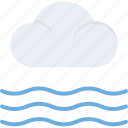 cloud on beach, cloudy day, cold weather, meteorology, pleasant nature icon