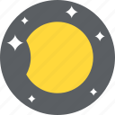 astronomy, eclipse, moon phase, nature, waning gibbous icon