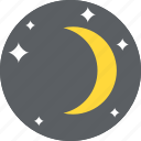 astronomy, eclipse, moon phase, nature, young moon icon