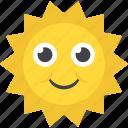 cartoon sun, smiling sun, summer season, weather, welcome spring icon