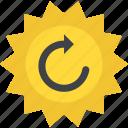 energy conversion, energy efficiency, refreshing sun, renewable energy, solar energy icon