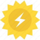 energy conversion, natural source, renewable energy, solar energy, solar power icon