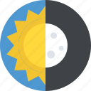 ecliptic, nature, occultation, solar eclipse, space science icon