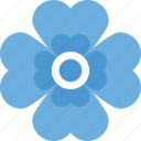 generic flower, nature beauty, periwinkle, seasonal blossom, spring flower icon