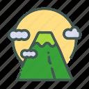 eco, ecology, mountain, nature, organic icon