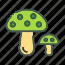 eco, ecology, mushroom, nature, organic icon
