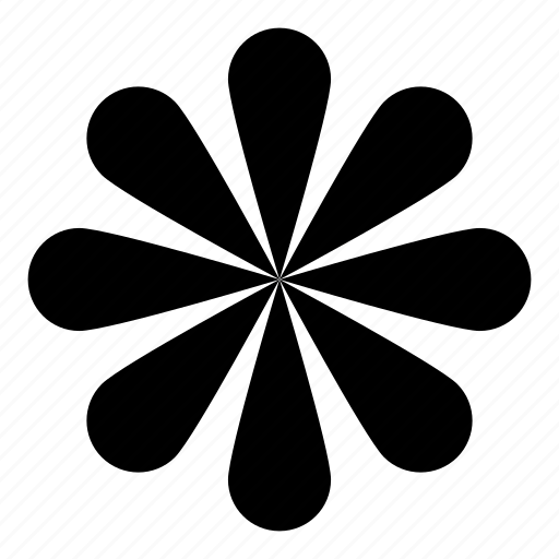flower, wheel icon