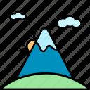 mountain, landscape, sun, nature