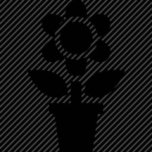 flower, leaf, nature, pot, vase icon