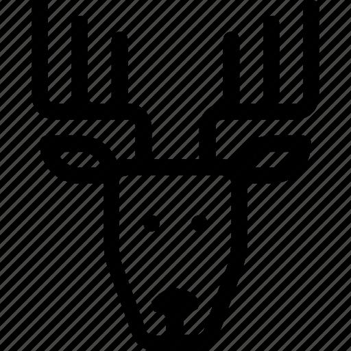 christmas, deer, mammal, nature, raindeer icon