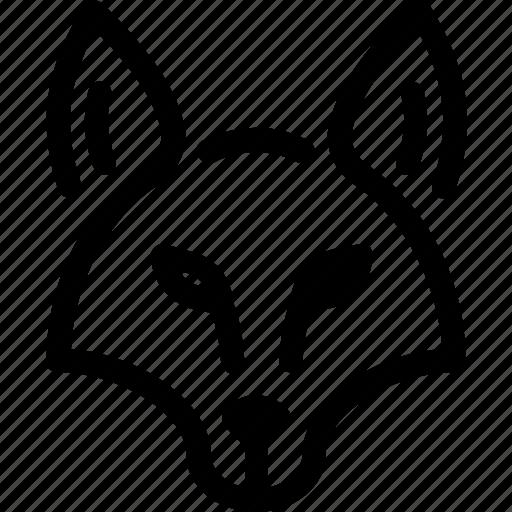 animal, carnivore, fox, mammal, nature, predator, wild icon
