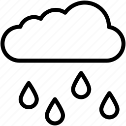 atmosphere, cloud, rain, raining, weather icon