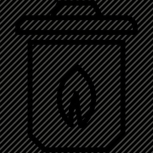 ashcan, dustbin, garbage can, trash can, waste bin icon