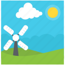 green energy, nature view, pleasant weather, rural landscape, summer season