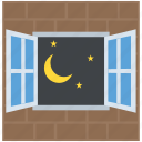 clear weather, nature, night time, night view, nightfall icon